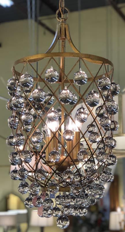 Anna's Mostly Mahogany Consignment - Gold /Crystal Chandelier