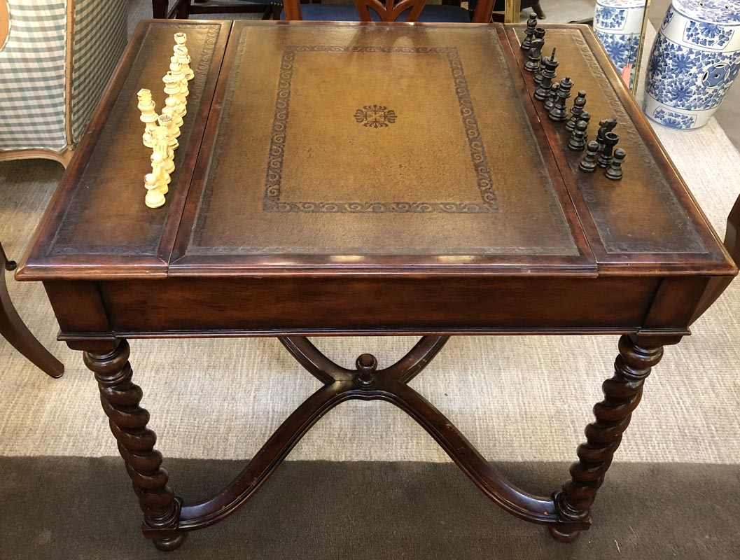 Walnut Game Table Antique And Art Consignment Highwood