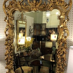 Anna's Mostly Mahogany Consignment - Pair Gilt Mirrors