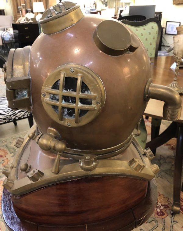 Anna's Mostly Mahogany Consignment - Brass Diving Helmet