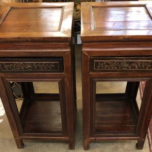 Anna's Mostly Mahogany Consignment - Pair Asian Pedestals