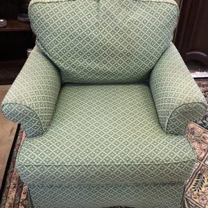 Anna's Mostly Mahogany Consignment - Green Club Chair