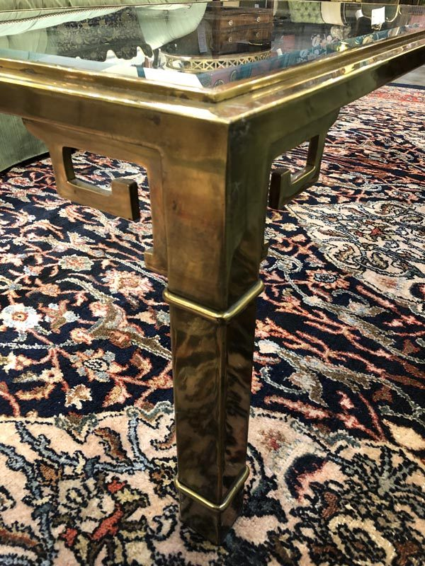 Anna's Mostly Mahogany Consignment - Mastercraft Brass Cocktail Table
