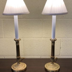 Anna's Mostly Mahogany Consignment - Gilt Candlestick Lamps