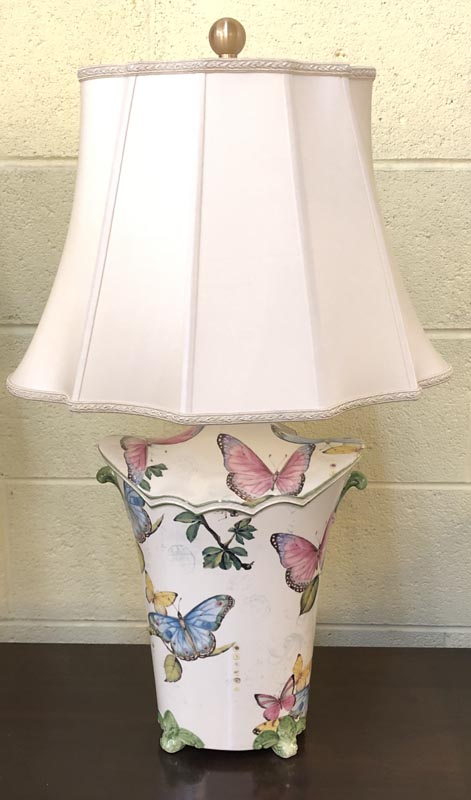 Anna's Mostly Mahogany Consignment - Pr Butterflies Lamps