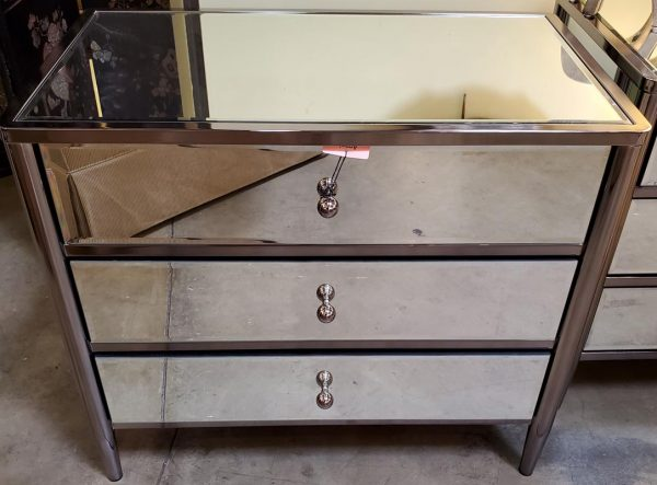 Anna's Mostly Mahogany Consignment - Mirrored Chest of Drawers