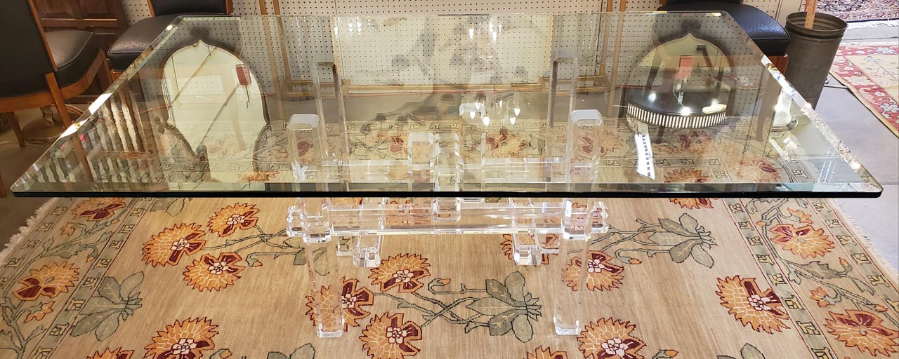 Beveled Glass Dining Table Antique And Art Consignment Highwood Anna S Mostly Mahogany