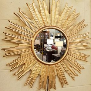 Anna's Mostly Mahogany Consignment - Metal Starbusrt Mirror