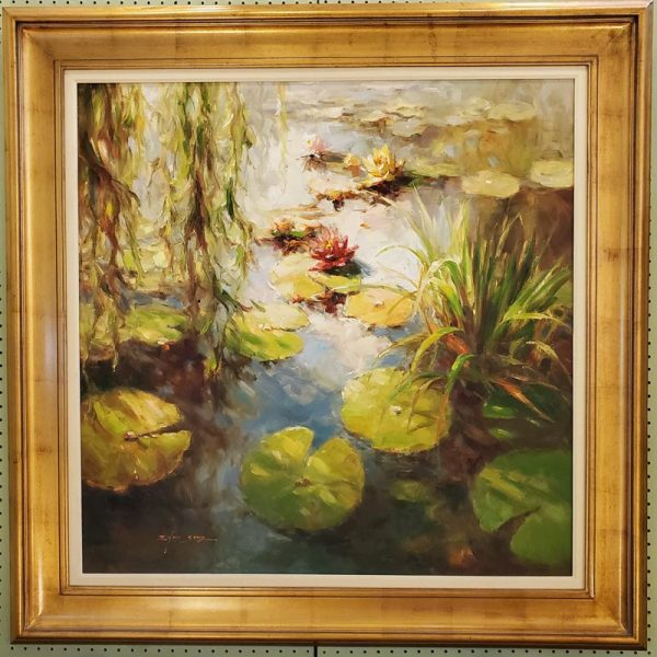 Anna's Mostly Mahogany Consignment - Lilypads Painting