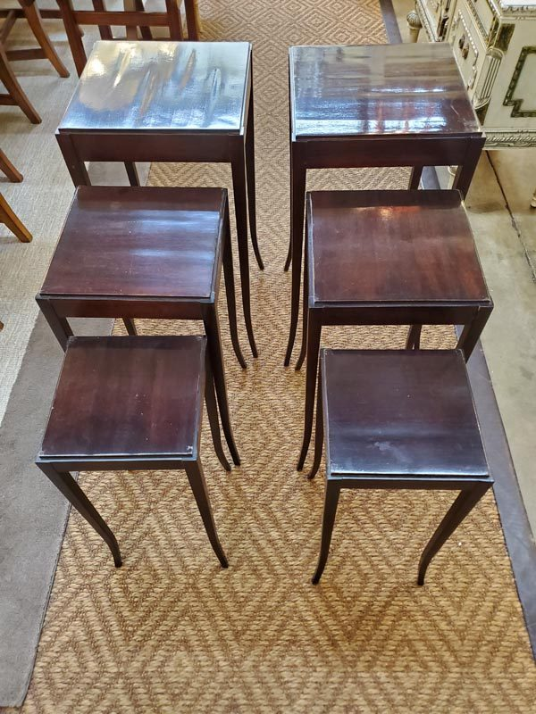Anna's Mostly Mahogany Consignment - Pair Nesting Tables
