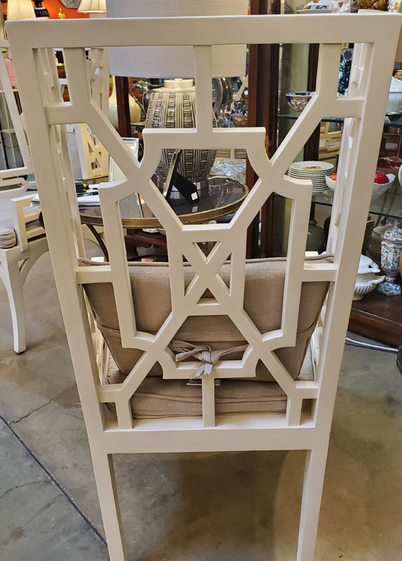 Anna's Mostly Mahogany Consignment - Wing Creame Chairs