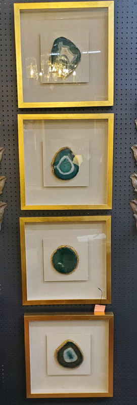 Anna's Mostly Mahogany Consignment - 4  Framed Agates
