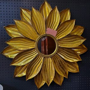Anna's Mostly Mahogany Consignment - Metal Flower Mirror