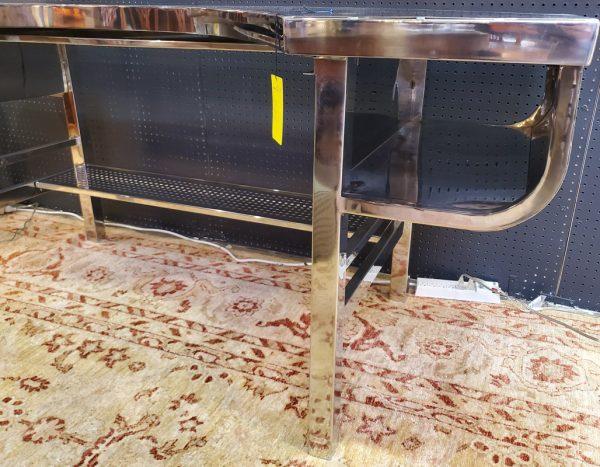 Anna's Mostly Mahogany Consignment - Modern Chrome Desk