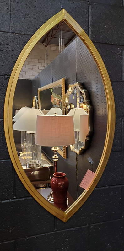 Anna's Mostly Mahogany Consignment - Gold Eye Form Mirror
