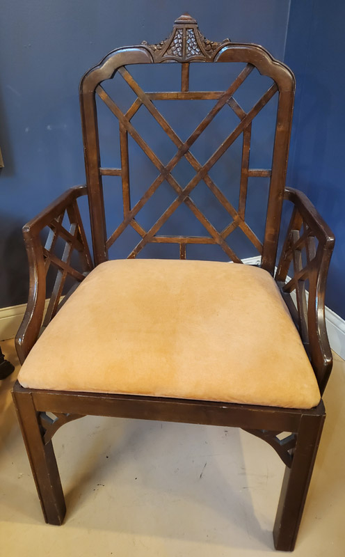 Anna's Mostly Mahogany Consignment - Pr Chippendale Chairs