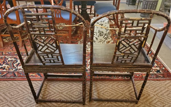Anna's Mostly Mahogany Consignment - Pr Bamboo Chairs