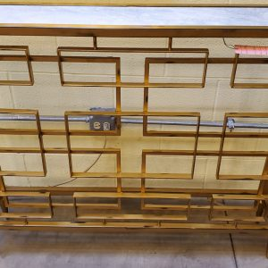 Anna's Mostly Mahogany Consignment - Gold Narrow Console