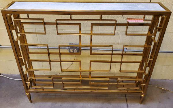 Anna's Mostly Mahogany Consignment - Gold Narrow Console