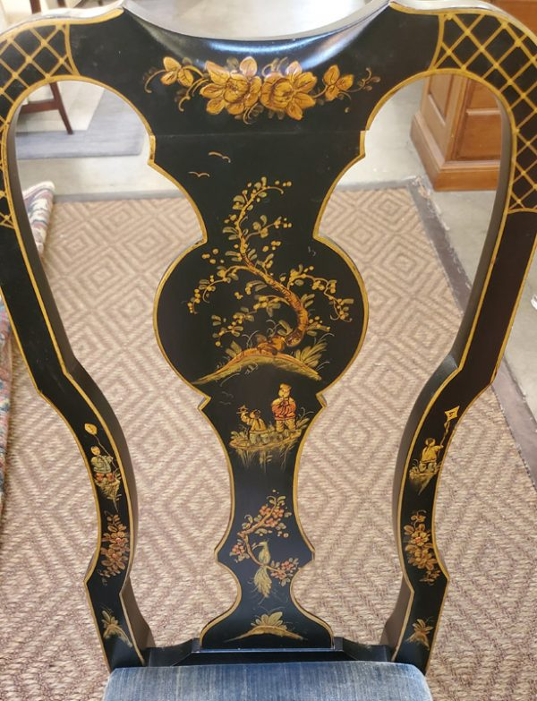 Anna's Mostly Mahogany Consignment - Set of 6 Drexel Chinoiserie Dining Chairs