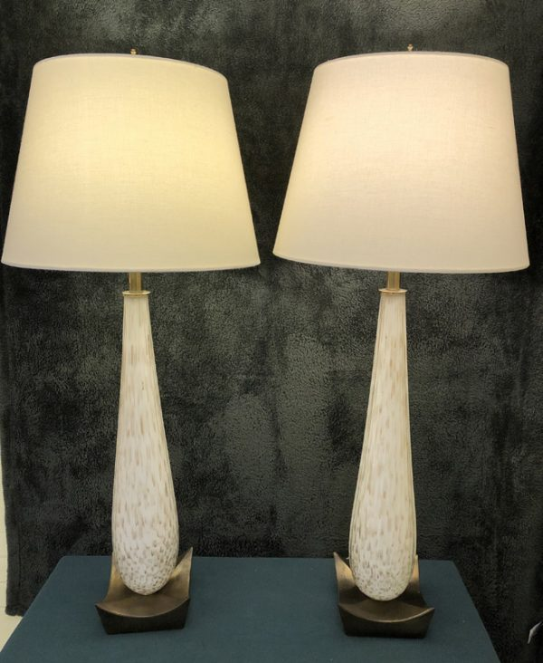 Anna's Mostly Mahogany Consignment - Pr Marborough Gold Lamps