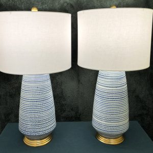 Anna's Mostly Mahogany Consignment - Pr Modern Lamps