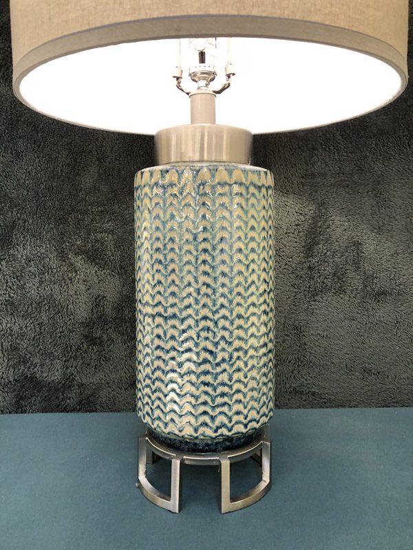 Anna's Mostly Mahogany Consignment - Pr Green Ceramic Lamps