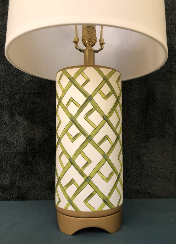 Anna's Mostly Mahogany Consignment - Pr Green Bamboo Lamps