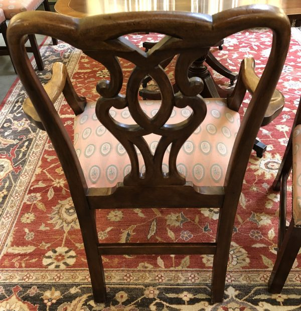 Anna's Mostly Mahogany Consignment - 8 Chippendale Dining Chairs