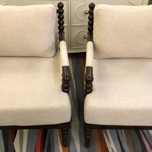 Anna's Mostly Mahogany Consignment - Pr Bobbin Chairs