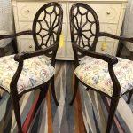 Anna's Mostly Mahogany Consignment - Pr Mahogany Arm Chairs