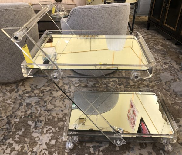 Anna's Mostly Mahogany Consignment - Lucite Bar Cart