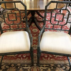 Anna's Mostly Mahogany Consignment - Faux Bamboo Chairs