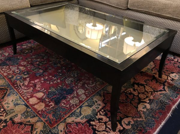 Anna's Mostly Mahogany Consignment - Glass Top Coffee Table