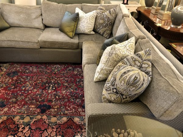 Anna's Mostly Mahogany Consignment - Gray Sectional