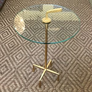 Anna's Mostly Mahogany Consignment - Gold Glass Table