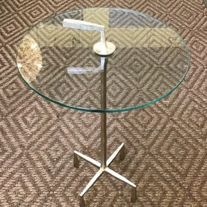 Anna's Mostly Mahogany Consignment - Silver Glass Table