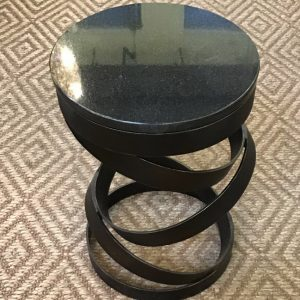 Anna's Mostly Mahogany Consignment - Black Marble Round Table
