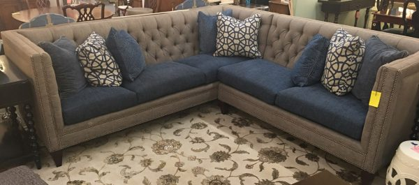 Anna's Mostly Mahogany Consignment - Tufted Sectional