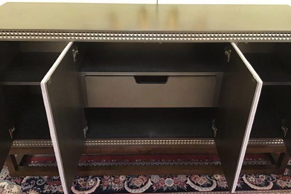Anna's Mostly Mahogany Consignment - Gray Modern Sideboard