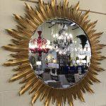 Anna's Mostly Mahogany Consignment - Lg Sunburst Mirror