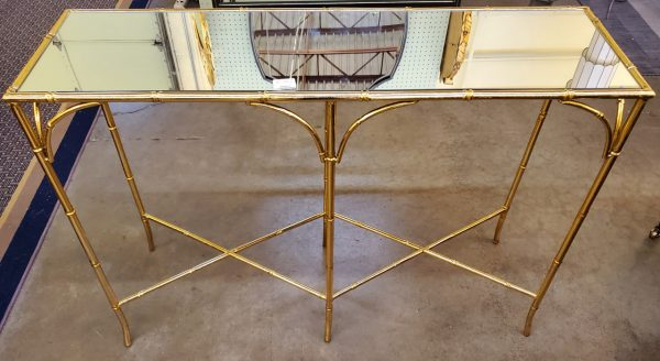 Anna's Mostly Mahogany Consignment - Gilded Bamboo Console