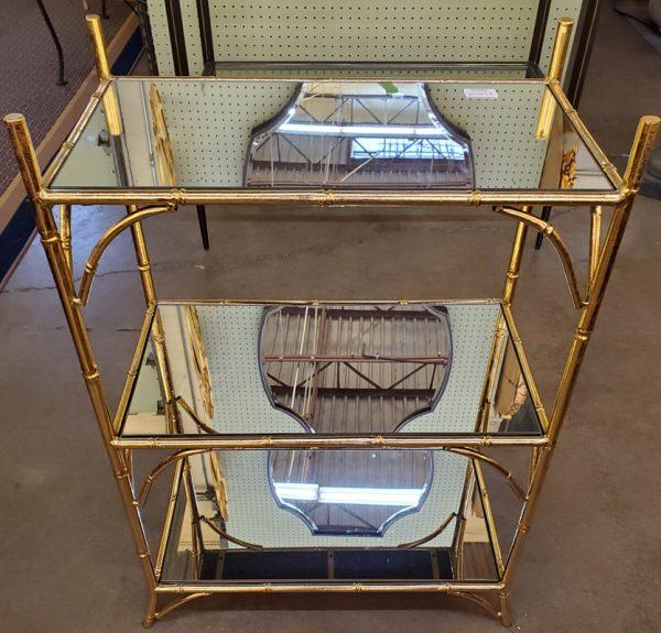 Anna's Mostly Mahogany Consignment - Three Tier Bamboo Console