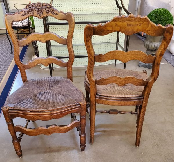 Anna's Mostly Mahogany Consignment - 8 French Style Chairs