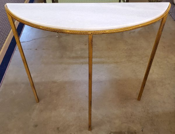 Anna's Mostly Mahogany Consignment - Stone Top Demi Lune