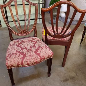 Anna's Mostly Mahogany Consignment - Set 8 Shield Back Chairs