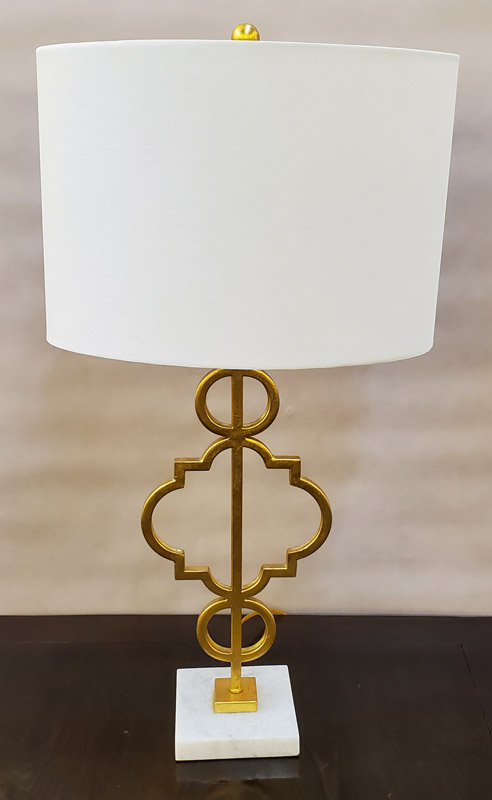 Anna's Mostly Mahogany Consignment - Pr Gold Lamps