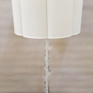Anna's Mostly Mahogany Consignment - Pr Glass Twig Lamps