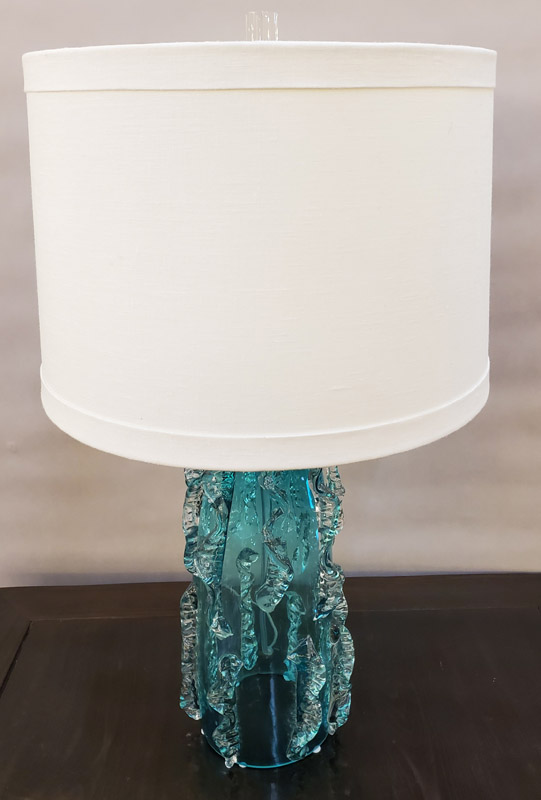 Anna's Mostly Mahogany Consignment - Pr Green Glass Lamps