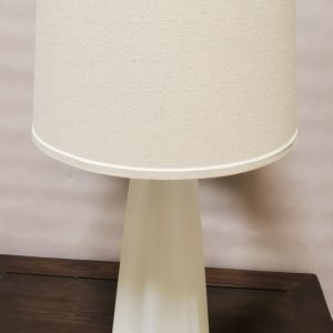 Anna's Mostly Mahogany Consignment - Pr  White Frosted Glass Lamps